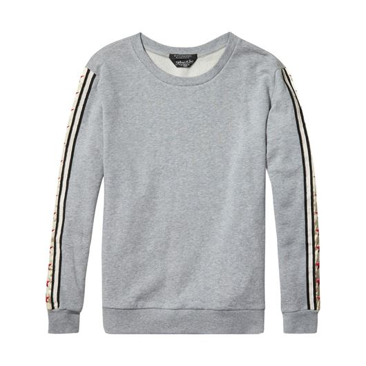 Снимка на SCOTCH&SODA WOMEN'S Relaxed fit sweat with embroidered star panels