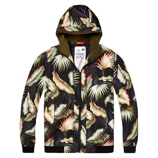 Снимка на SCOTCH&SODA MEN'S Short hooded nylon jacket