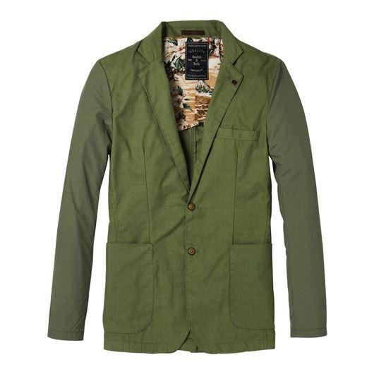 Снимка на SCOTCH&SODA MEN'S Blazer jacket in mix & match cotton/nylon qualities