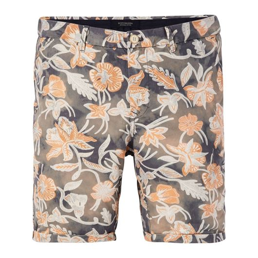 Снимка на SCOTCH&SODA MEN'S Summer beach short with all-over print and bleached outlook