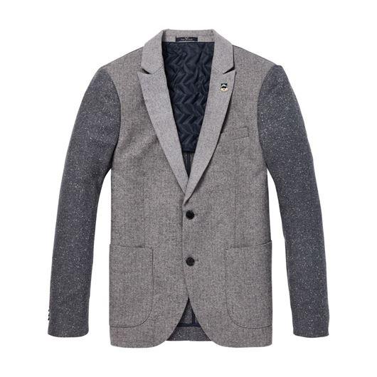 Снимка на SCOTCH&SODA MEN'S Half-lined blazer in wool blend quality with neps