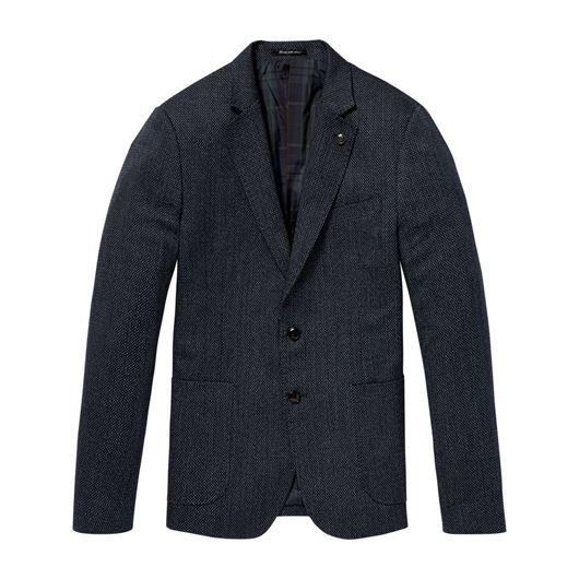 Снимка на SCOTCH&SODA MEN'S Chic blazer in structured weave and yarn-dyed pattern