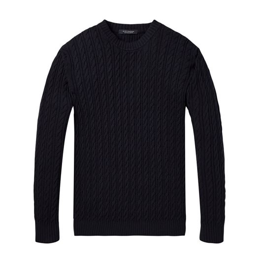 Снимка на SCOTCH&SODA MEN'S Lightweight pullover in cashmere blend and structured knit