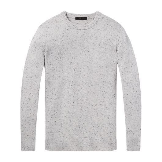 Снимка на SCOTCH&SODA MEN'S Crewneck pullover in wool blend quality with neps
