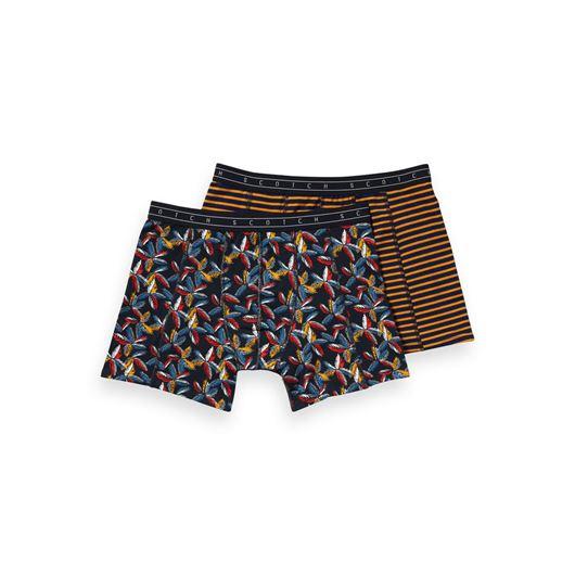 Снимка на SCOTCH&SODA MEN'S Classic boxer short with print and yarn-dyed stripe