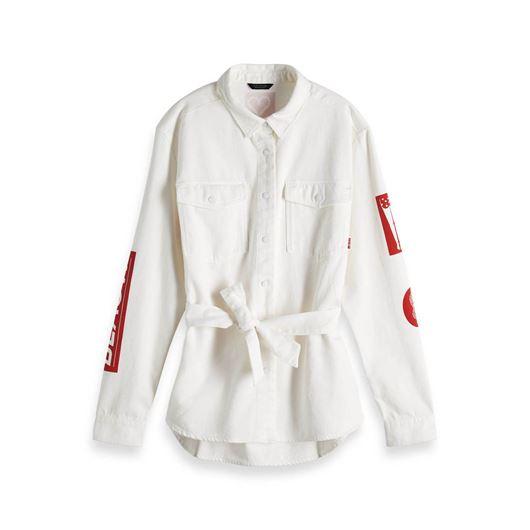 Снимка на SCOTCH&SODA WOMEN'S White Denim Shirt