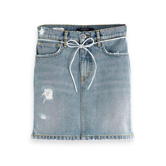 Снимка на SCOTCH&SODA WOMEN'S Denim Skirt - Dock A Dots