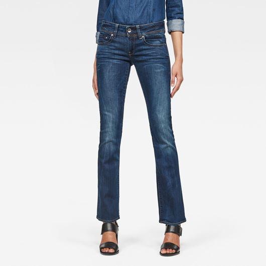 Снимка на G-Star RAW WOMEN'S Midge Saddle Mid Skinny Bootcut Jeans