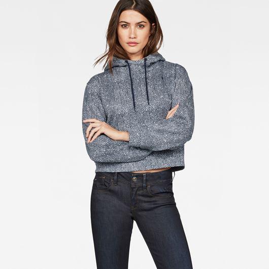 Снимка на G-Star RAW WOMEN'S Pugna Straight Cropped Hooded Sweater