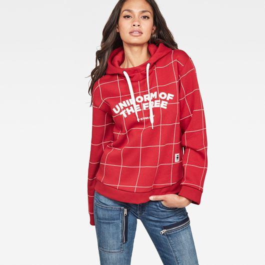 Снимка на G-Star RAW WOMEN'S Lynaz Hooded Sweater Win Ch Pattern