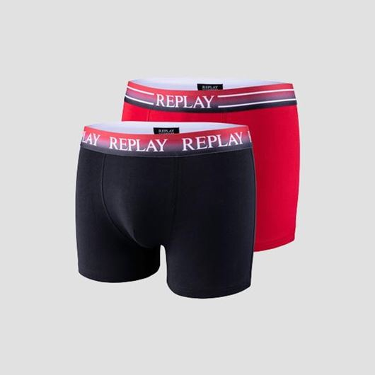 Снимка на REPLAY MEN'S SET OF TWO BOXER BRIEFS WITH FADED ELASTIC WAISTBAND TM105.I101105.N093