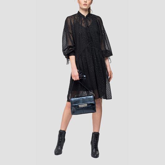 Снимка на REPLAY WOMEN'S DRESS IN TRANSPARENT GEORGETTE W9525.83494.098