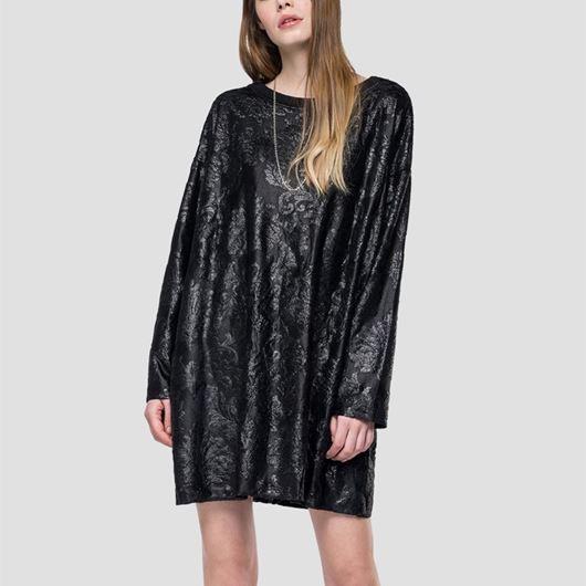 Снимка на REPLAY WOMEN'S VELVET JACQUARD DEVORÈ SHORT DRESS W9579A.22746.098