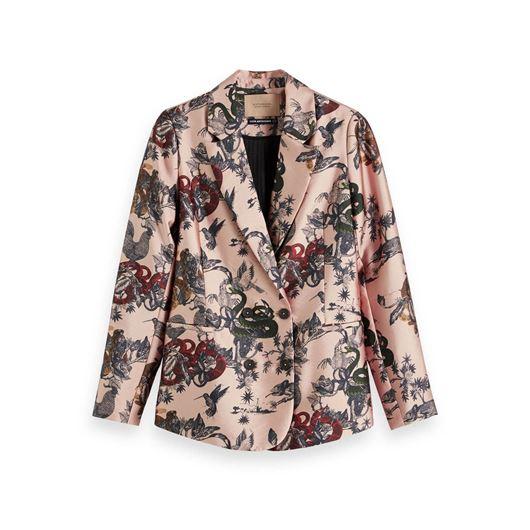 Снимка на SCOTCH&SODA WOMEN'S Printed Double-Breasted Blazer