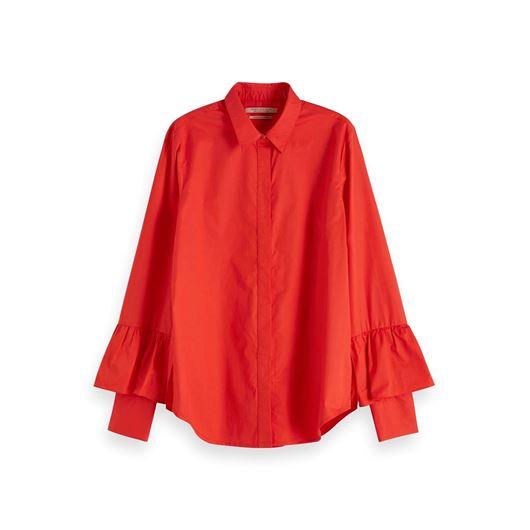Снимка на SCOTCH&SODA WOMEN'S Ruffle Detail Shirt